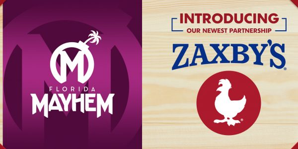 Florida Mayhem Partners with Zaxby's as Official Match Time Meal