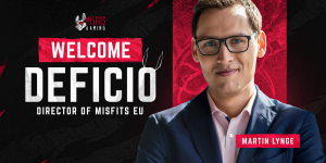 Misfits Gaming Group welcomes Martin 'Deficio' Lynge as the Director of Misfits Gaming Europe